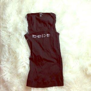 Bebe black bling tank sz S